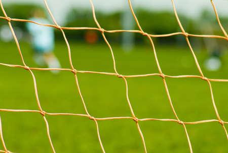 close up of soccer net 版權商用圖片
