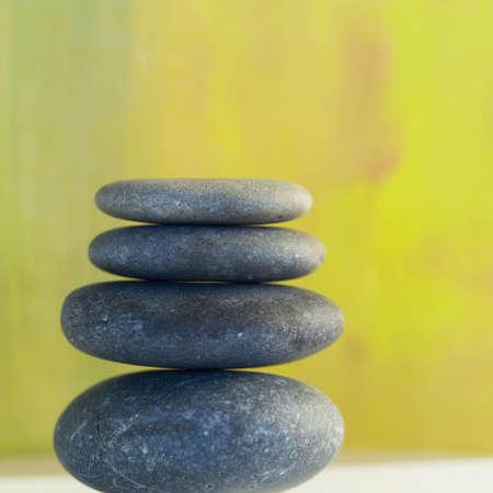 studio close up of balanced smooth rocks Zdjęcie Seryjne
