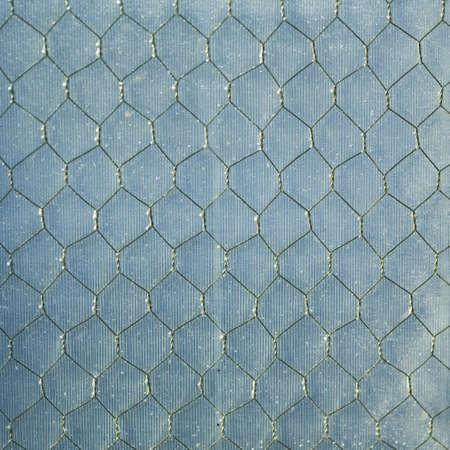 chainlinked: bekijken via keten gekoppeld hek Stockfoto