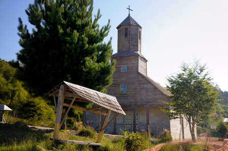 patrimony: Detif church at Chiloe, Chile
