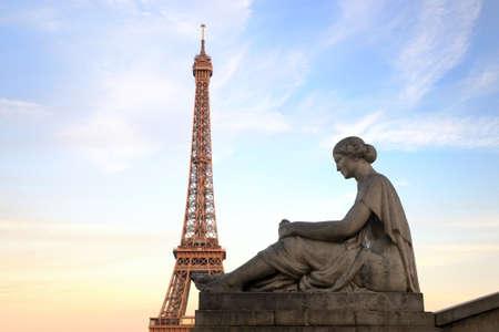 monument at trocadero, paris, france Banco de Imagens