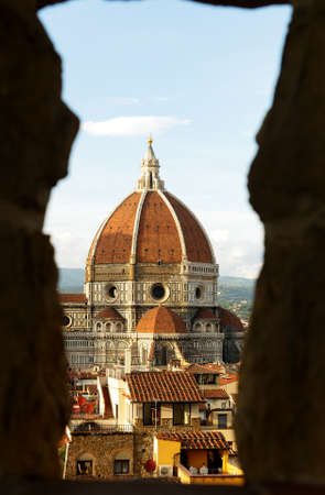 fiore: View of Basilica Santa Mara del Fiore, Florence Italy Stock Photo