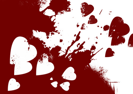 Bloody hearts abstract background Stock Photo - 22950068