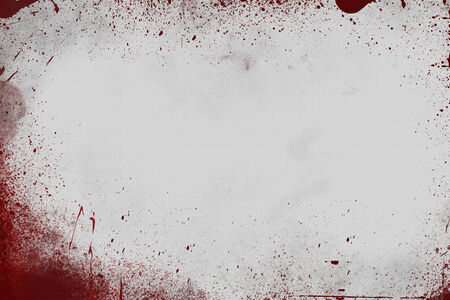 animal blood: Bloody Splattered Gray Wall Scene