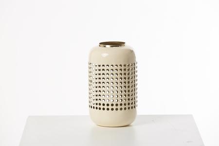 White Vase Decoration on White Box and Background