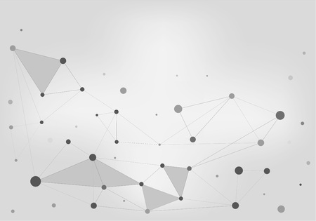 Abstract Bright Grey Networks Background