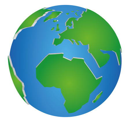 3D Earth Globe Vector Graphic Illustration
