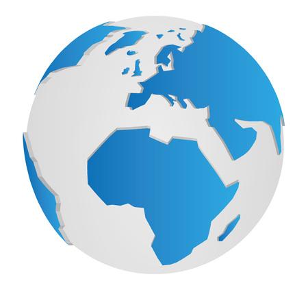 3D Earth Globe Vector Graphic 일러스트