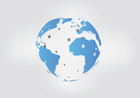 Abstract Networks Vector Graphic with Earth