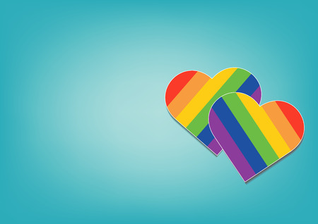Pride LGBT Rainbow Colorful Shape of Heart Love Abstract Background Фото со стока