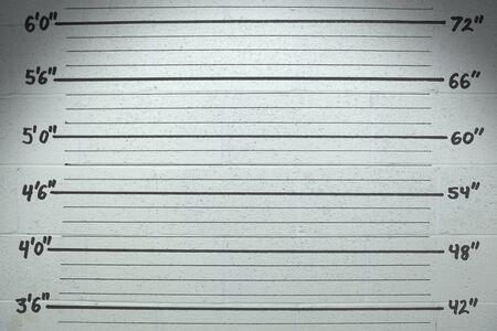 Mugshot-Wandhintergrund mit Maßen