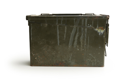 Army Green Ammo Container Front