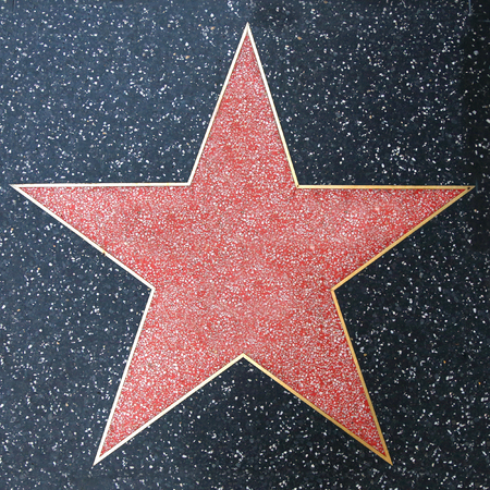 Walk of Fame Blank Star 写真素材 - 120354707