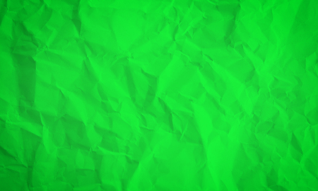 Crumpled Green Paper Background Texture