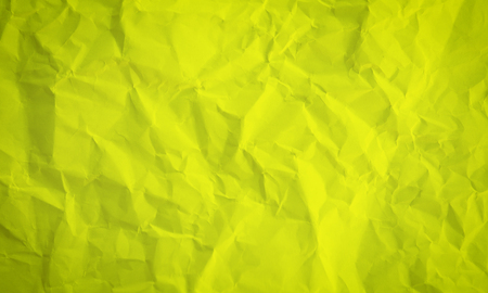Crumpled Yellow Paper Background Texture
