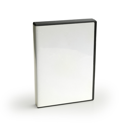 Blank DVD Case Isolated on White Background Stock Photo