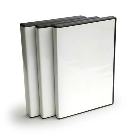 Three Blank DVD Cases Archivio Fotografico - 120354909
