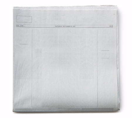 Fake Newspaper Front Page Blank