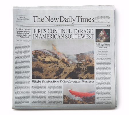 Fake Newspaper Front Page with Fake Articles 2