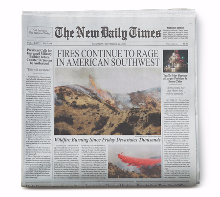 Fake Newspaper Front Page with Fake Articles 1