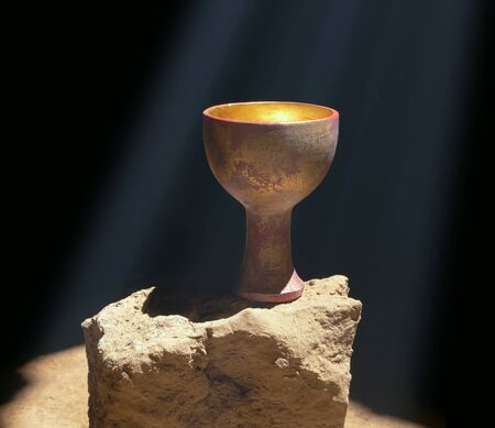 Holy Grail Sitting on a Rock