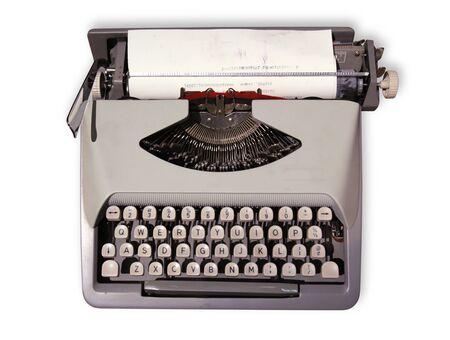 Old Typewriter 1 Isolated on White Background