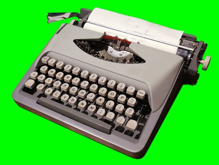 Old Typewriter 2 Isolated on White Background