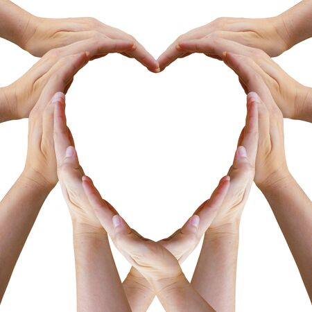 Heart Made Out of Many Hands Archivio Fotografico