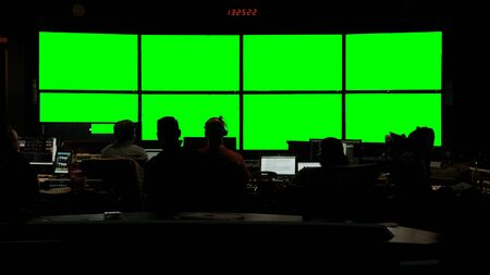 News Broadcast Control Room Still 1 Green