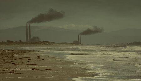 Pollution on Beach Global Warming