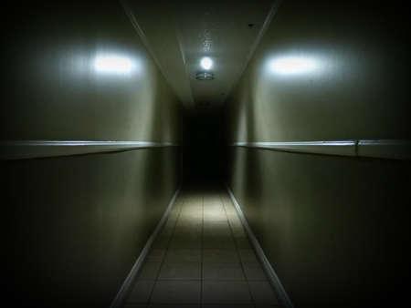 Looking Down a Spooky Dark Hallway 1 Imagens