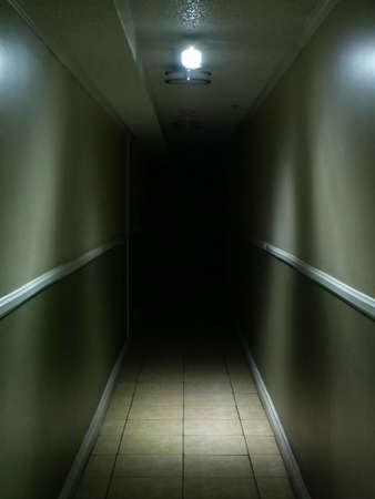 Looking Down a Spooky Dark Hallway 2