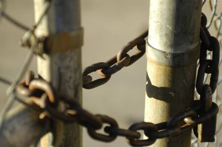 chained gate Banco de Imagens - 930087