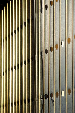 studs: metal stud framed wall Stock Photo