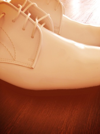 formal wear clothing: Mens Dress Shoes Stock Photo