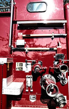 Side of Fire Truck  photo
