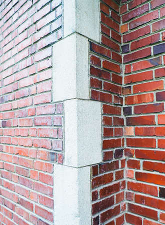 Brick Wall with Protruding Corner