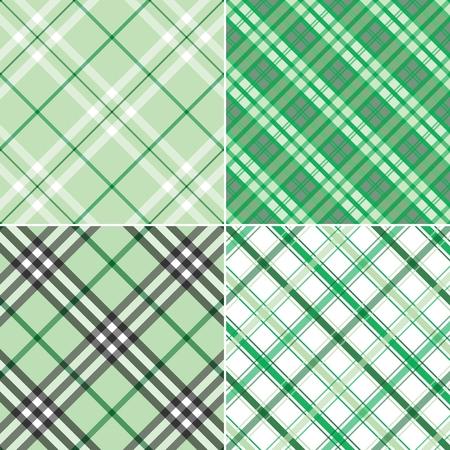 etre diff�rent: Quatre diff�rents modes de plaid vert pour �tre utilis� comme un arri�re-plan