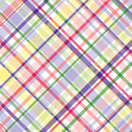 パステル調の格子縞のパターン
