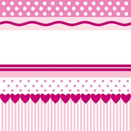 心とピンクのパターン 写真素材