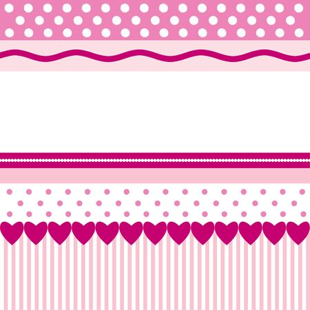 polka dots: Pink pattern with hearts
