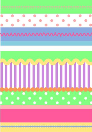 Background pattern of bright colors and shapes photo