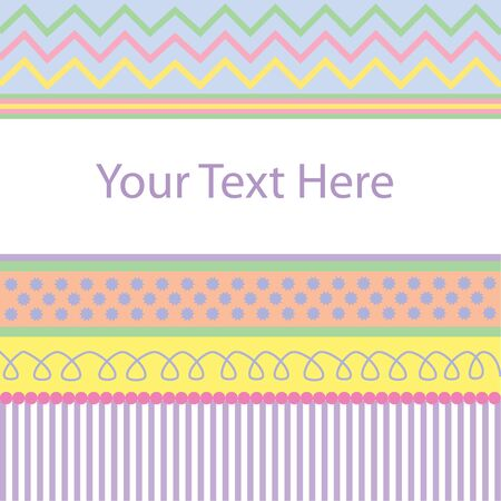 Background pattern of pastel colors and shapes with blank space for text