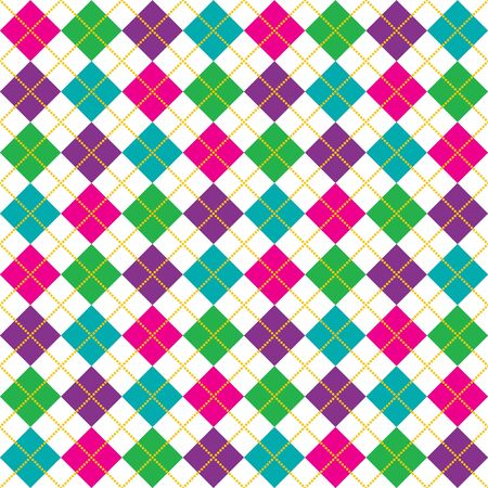 Brightly colored background illustration of argyle pattern illustration