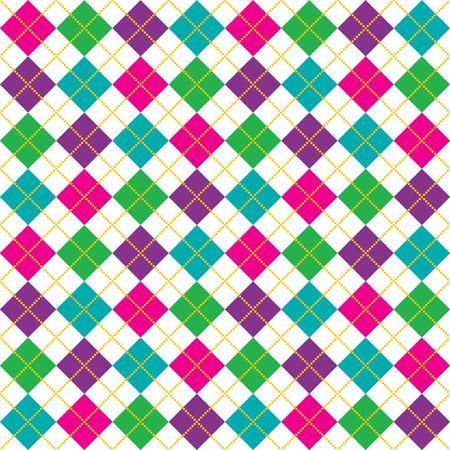 argyle: Brightly colored background illustration of argyle pattern