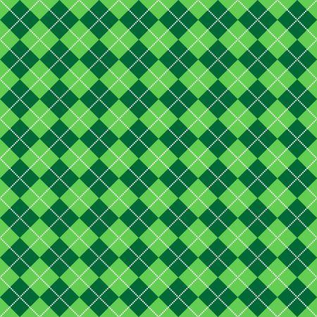 밝은 흰색 도트의 선으로 밝고 진한 녹색 아가일의 배경 그림