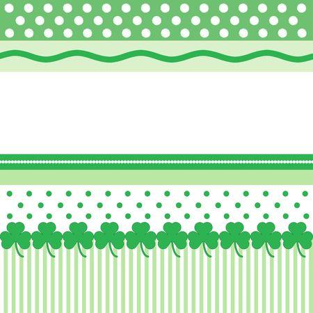 テキスト用のスペースと聖パトリックの日カードの緑と白のパターン 写真素材