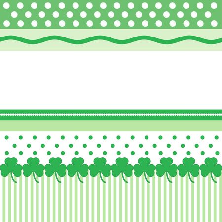 Green and white pattern for St. Patrick's Day card with space for text Imagens - 2630109