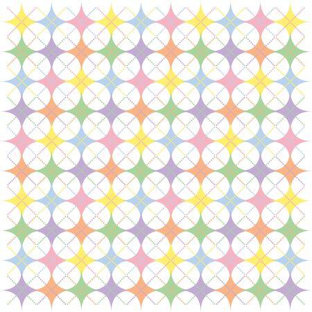 rainbow background: Illustration of pastel rainbow colored argyle stars pattern