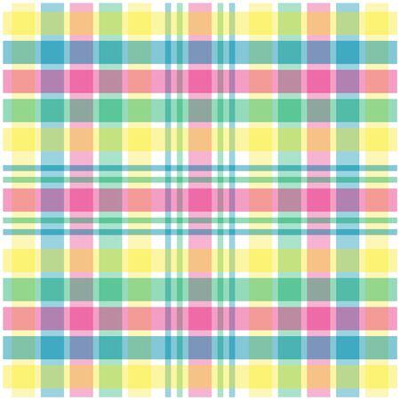 パステル ピンク、緑、青および黄色の格子縞の図 写真素材 - 2703170